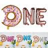 Baby Shower Party Banner Decor 1st Birthday Donut One Letter Foil Balloons Set