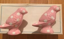 Pottery Barn Kids Light Pink Polka Dot Bird Knobs Set of 2