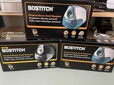 Lot Of 3 New Bostitch Personal Electric Pencil Sharpener Space Saver Black Blue