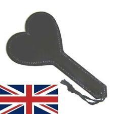 Leather heart Spanking Paddle/Strap, caning, spanking, sissy maid, UK POST
