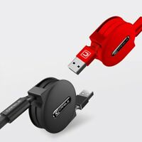 3 in1 Retractable Fast Charging Micro USB Data Sync Cable for iPhone Andr