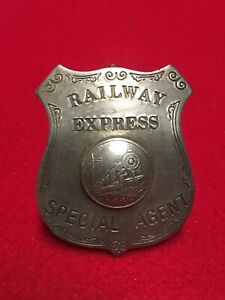 Vintage Railway Express Special Agent Badge