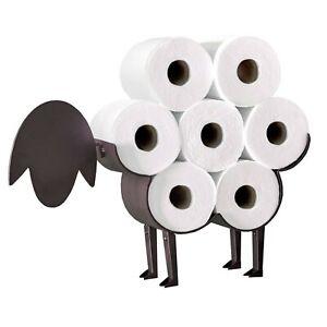 Sheep Black Toilet Roll Holder Paper Bathroom Free Standing Metal Storage Uk