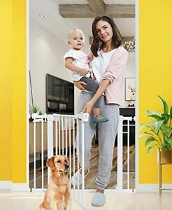 Baby Gates for Stairs and Doorways Dog Gates for The House 30-40.5 inches - I...