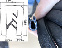 Reinforced Flexible Rubber Edge Edging Trim Seal 16mm by 11mm. Fits 1-4mm Panel.