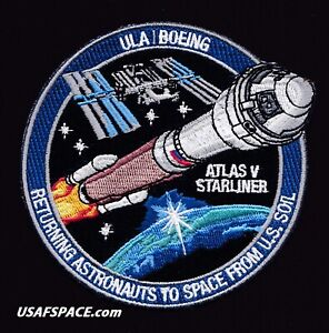 Authentic ULA - BOEING STARLINER - ATLAS V Launch - NASA ISS USA SPACE PATCH