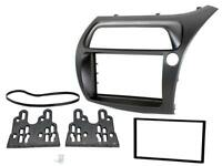 HONDA CIVIC HATCHBACK 2006-2011 DOUBLE DIN FACIA FASCIA PANEL ADAPTOR BLACK