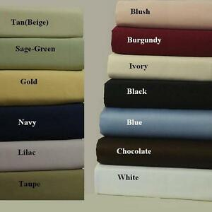 Queen Attached Waterbed Sheets 100% Brushed Microfiber Sateen Solid Set