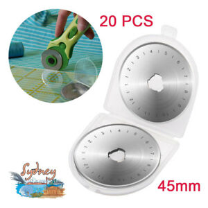 20pcs Rotary Replacement Blade 45mm Leather Fabric Cut Quilter Sewing Cutter