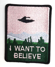 """X-Files I Want To Believe 3.75 """" Groß Bestickt Patch - USA Mailed (Xfpa-02)"""