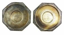 #e6733 2 sehr alte dekorative Untersetzer 900 (Ag) Silber Vietnam 100 g