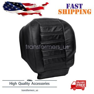 For 2003-2007 Hummer H2 AWD Driver Side Bottom Leather Seat Cover Black