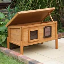 Casa gato de madera al aire libre XL refugio Impermeable Jardín Animal aislado techo den