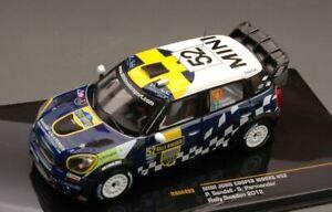 Mini John Cooper Works #52 8Th Sweden 2012 Sandell 1:43 Ixo Ram493 Miniature