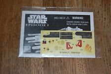 Anakin's Pod Racer Instructions and Decals-Star Wars The Phantom Menace