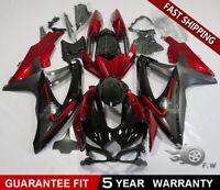 Molded RED BLACK For SUZUKI GSXR 600/750 2008-2009 2010 ABS Fairing kit Bodywork