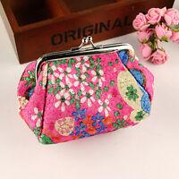 Women Girl Cartoon Flower Coin Purse Card Bag Case Key Mini Wallet Pouch Holder