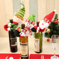 Christmas Wine Bottle Cover Bags Snowman Santa Claus ELF Table Party xmas Decor
