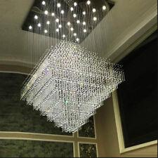 LED Crystal Raindrop Pendant Lamp Square Living Room hotel hall Ceiling Lighting