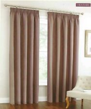"OXFORD JACQUARD STRIPE LINED CURTAINS HEATHER WIDTH 167CM 66"" DROP 182CM 72"""