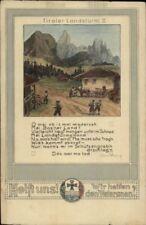 Help Austrian Veterans War Military Verse Otto Konig c1915 Postcard