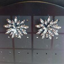 NWOT J.Crew Chrysanthemum Crystal Flower Earrings