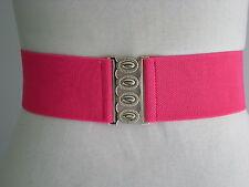 50s Style ROCK n ROLL SKIRT ELASTIC CINCH BELT. Pink.