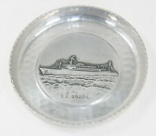 New listing Rare Ss Brasil Vintage Cruise Ship Silver Alpha Ocean Liner Ashtrey Souvenir