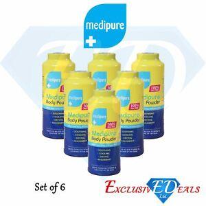 6 x 200g Medipure Medicated Body Powder 100% Talc Free Helps Irritated Skin