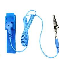 Antistatische Armbänder Armband ESD Erdungsarmband und Krokodilklemme Blau