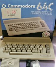 Vintage Commodore 64 Computer Original Box, Power Supply and Manuals Tested