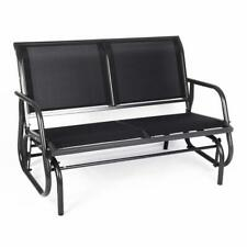 Outdoor Swing Glider Bench for 2 Persons Patio Rocking Chair Garden Seating