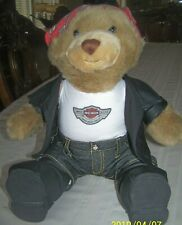 Harley Davidson 2003 100th Anniversary Road Tour Stuffed Bear Mascot Retired 14""