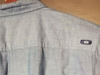 OAKLEY  Short Sleeve Button Up Shirt Mens Large Blue