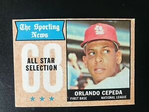 1968 Topps Baseball #362 Orlando Cepeda - All Star -  EX. MT.