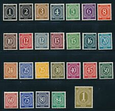 Germany 1946 NUMERALS ISSUES (26) DIFFERENT; AS SHOWN; **PRISTINE** MNH