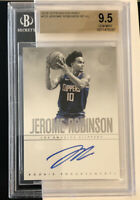 2018-19 Encased #123 Jerome Robinson RC Endorsements Autographs /75 GEM BGS 9.5