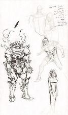 Steampunk Gotham Batman & Superman Robot DC Design Art 2011 Sean Gordon Murphy Comic Art