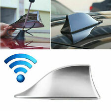 Car Shark Fin Roof Antenna Aerial Cover AM/FM Radio Decorate Fit BMW Audi Silver