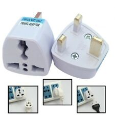 US AU EU to UK AC Power Plug White Travel Wall Adapter Plug Converter