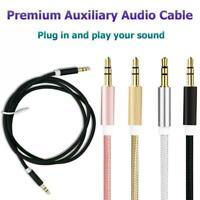 Aux Câble jack 3.5mm Stéréo Câble Audio Mâle à Mâle ~ VOITURE MP3 iPod pour L9W4