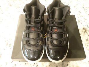 Jordan 11 Retro BP ..Black/Red/White ..Boys 12.5c