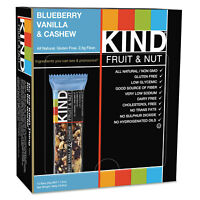 KIND Fruit and Nut Bars Blueberry Vanilla and Cashew 1.4 oz Bar 12/Box 18039