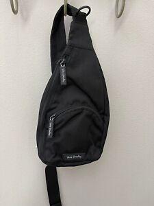 Vera Bradley Lighten Up Essential Compact Sling Crossbody Backpack Beltbag Black
