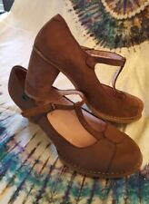 Womens El Natura Lista brown suede T-bar shoes size 7.5