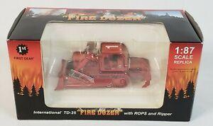 International Harvester TD-25 Fire Dozer w/ ROPS & Ripper By First Gear 1/87