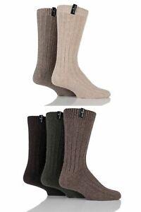 Mens 5 Pair Jeff Banks Greenwich Wool Mix Leisure Socks