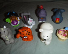 """Little People Alphabet People H Cat Dog Policeman Figures 2.5"""" Toy"""