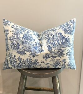 Toile Vintage Pillow Cover