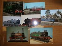 VintageTrains postcards  Collection Of 7 colour postcards unposted